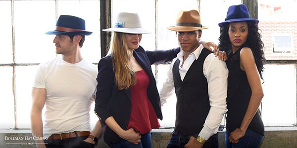 group wearing hats
