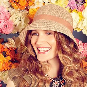 Woman Wearing bucket Hat