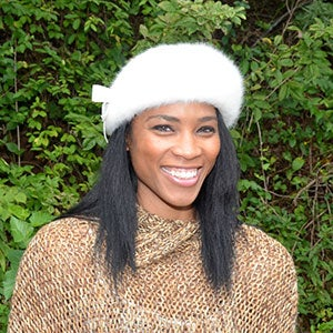 Woman Wearing Fur Cap