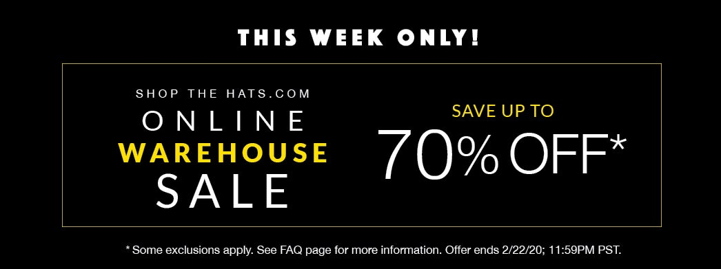 Online Warehouse sale, up to 70% off, this week only!