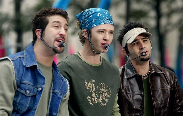 Justin Timberlake and fellow members of N*Sync