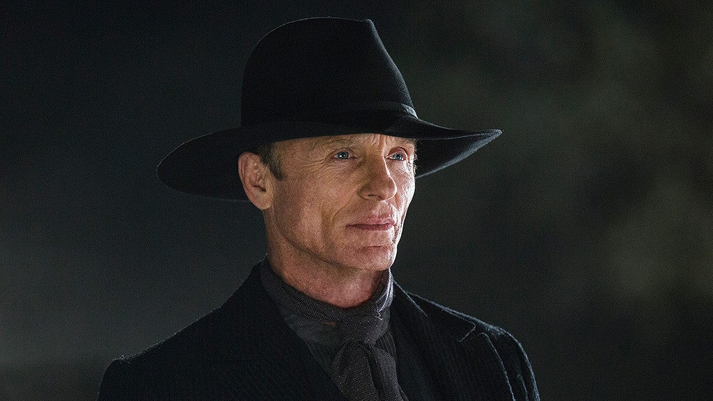 Ed Harris playing the Main in Black in Westworld.